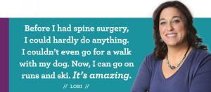 Lori Spine Surgery Testimonial
