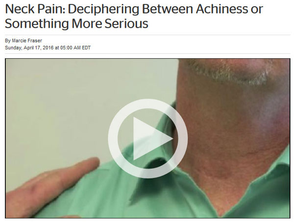 Dr. Herzog interviewed on TWC News about neck pain